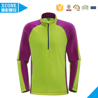 wholesale Ladies OEM 1/4 Zip Fleece Jacket with Elastic cuffs and hem made in China with most competitive price