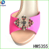 HW5355 The fashion rhinestone shoe accessories buckles for lady shoes in Italy
