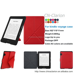 PU Leather Case Cover For Amazon Kindle voyage Ultra Slim Case For Kindle Origami Cover, Red