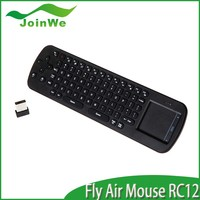 For smart tv 2.4G Remote Control RC12 Air Mouse + Wireless Touchpad Keyboard For PC TV BOX