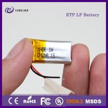 4*11*20mm durable small 3.7v 60mah lipo battery