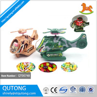 Hot new products for 2015 pull wire helicopter candy toy , toy with candy