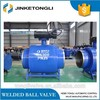 all welded ball valve with manual gear box DN500