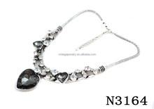 N3164 Fashion Crystal Heart Shape Pendant Necklace