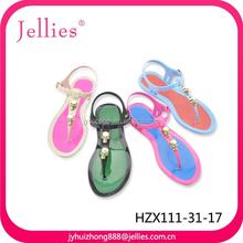 latest design beauty pvc fashion sandals crystal pvc jelly shoes women plastic shoes pvc footwear