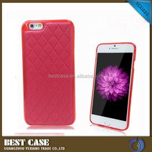 Luxury Leather Back Cover Case for iPhone 6 4.7 Inch soft tpu cover case