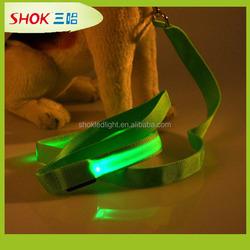 2015 wholesales customized nylon LED dog leash