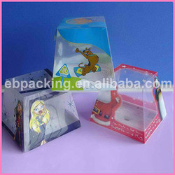 Transparent plastic packaging box for badminton