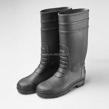 2015 HOT men work rain boots high heel steel toepvc safety rain boots