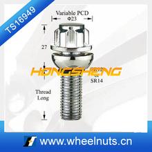variable PCD round sliding wheel locking bolt