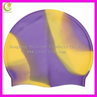 Adult Kid sizes rubber silicone swimming caps/ customized logo printed waterproof silicone swimming cap