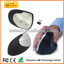 New design human engineering big 2.4g wireless vertical mouse for desktop computer
