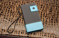italian leather mobile phone case with PC shell for iphone 6 cases fashion