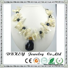 Freshwater pearls wholesale costume jewelry Pearl Necklace for Shell Crystal