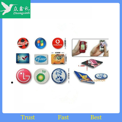 Promotional gift adhesive microfiber screen cleaner