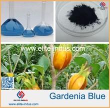 Gardenia extract for gardenia blue color with edible colorant