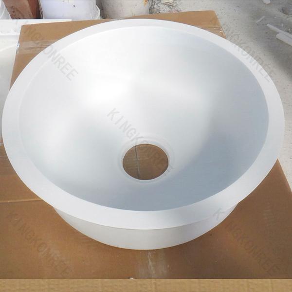 Custom Size Unique Round Kitchen Sink Acrylic Stone Kitchen Sink For ...
