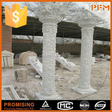wholesale well polished beautiful cultured beige natural stone column caps