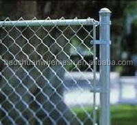High quality hot dip galvanized >=200g/square meter used chain link fence in store for sale (8 years producing experience)