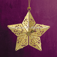metal star ornament brass ornaments