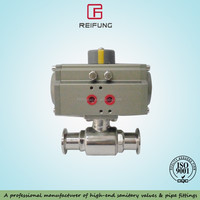 stainless steel pneumatic two-way ball valve