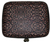 Ladies leopard print hard case travel cosmetic bag