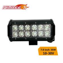 36w 7 inch led light bar for off road atv