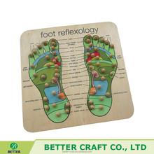 Eco-friendly Wooden Reflexology Foot Massager Healthy Wooden Foot Massager