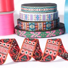 Hot sale patterned ethnicl ribbon for apparel