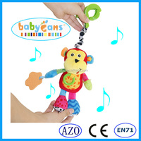 Baby Music And Plush Stuffed Monkey Baby Toys Of Hanging On Baby Bed Toy
