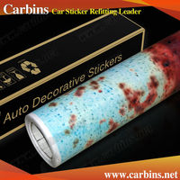Blue Iron Rust vinyl full car body wrap film 2015 new vinil foil RUST car sticker