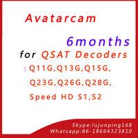 QSAT Account Renewal Avatarcam Account for all Qsat Decoders Q-SAT Q11G,Q13G,Q15G,Q23G,Q26G,Q28G,Speed HD S1,S2