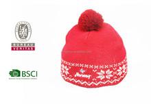 custom knitted pom beanie hat