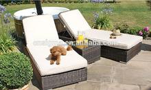2015 Outdoor hot sale treasure rattan sun lounger