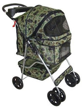 New BestPet Camouflage 4 Wheels Pet Dog Cat Stroller Carrier w/RainCover