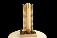 China maker ABS and acrylic miniature building model with lighting