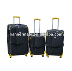 Polyester four wheels luggage for sale