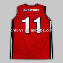 Reversible sublimated mesh fabric basketball jersey uniform design