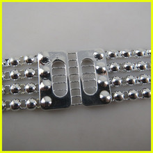Wholesale Rhinestone Stripe Chain Trimming for Women Belt