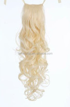 blond fake/false hair extension any size any color customize ponytail hair pieces
