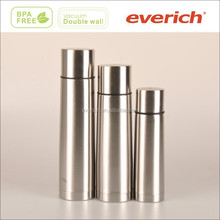 High quality flat drinking cap double wall insulated vacuum flask, stainless steel traveling bottle