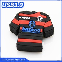 Football team T-shirt shaped alibaba wholesale usb flash drive bulk cheap flash memory
