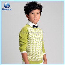 2015 new fashion sweatshirt for boy, knitted soft fashion boy's sweater, kids wool sweater pullover
