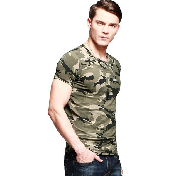 High Quality Cheap Wholesale Camo T Shirt Custom