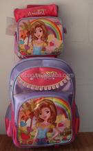 OEM 2011 latest 3 sets girls trolley china school bags