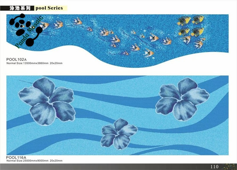 Mb decorative flower and animal pattern swimming pool for Pool design pattern