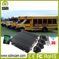 Most powerful fleet management software Clients with 4ch car blackbox for bus GPS 3G WIFI supported