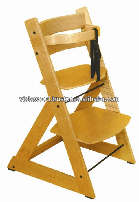 Adjustable Position High Chair Knock Down Baby High