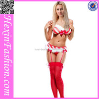 Hot Sale Sexy Fashion Girl Red and White Christmas Costumes