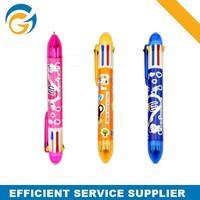 Multi 10 C olor Plastic Cheap Promotional Pen for Bulk Sale